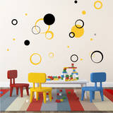 Circle Daze Black Wall Decal Wall Decal