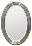 Magnolia Beveled Edge Silver Oval Mirror Wall Mirror