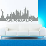 New York City Skyline Grey Wall Decal Adesivo de parede
