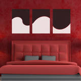 Abstract Wave Panels Black Wall Decal Adesivo de parede
