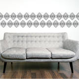 Powder Border Grey Wall Decal Wall Decal
