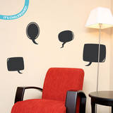 Chat Time Chalkboard Wall Decal Decalques de parede