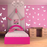Butterfly Moments White Wall Decal Wall Decal