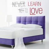Learn to Love Quote Red Wall Decal Decalques de parede