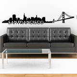 San Francisco Skyline Black Wall Decal Vinilo decorativo