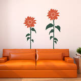 Sunflower Smiles Orange Wall Decal Wall Decal