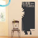 Bloom Quote Chalkboard Wall Decal Decalques de parede