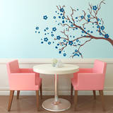 Watsonia Branch Blue Wall Decal Wall Decal
