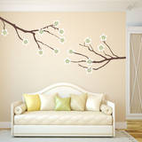Amber Tree Branches Celadon Wall Decal Wall Decal