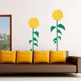 Sunflower Smiles Yellow Wall Decal Wall Decal
