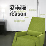 Happens for a Reason Celedon Wall Decal Decalques de parede