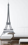 Eiffel Tower Grey Wall Decal Vinilo decorativo