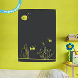 Fishy Business Chalkboard Wall Decal Decalques de parede