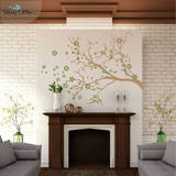 Watsonia Branch Olive Wall Decal Wall Decal