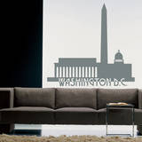 Washington DC Skyline Grey Wall Decal Wall Decal