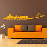 San Francisco Skyline Yellow Wall Decal Vinilo decorativo