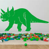 Triceratops Yellow Green Wall Decal Wall Decal