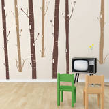 Aspen Woods Brown Wall Decal Wall Decal