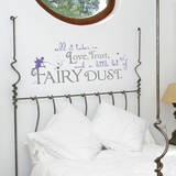 Fairy Dust Quote Lavender Wall Decal Decalques de parede