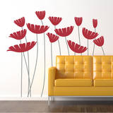 Honey, I Supersized the Flowers Red Wall Decal Wall Decal