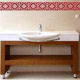 Tiled Border Red Wall Decal Wall Decal