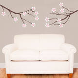 Amber Tree Branches Carnation Wall Decal Wall Decal