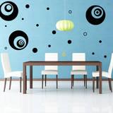 Supersized Circles Black Wall Decal Decalques de parede