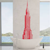 Chrysler Building Red Wall Decal Wall Decal