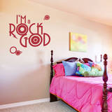 Rock God Red Wall Decal Wall Decal