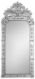 Aeera Venetian All Glass Etched Mirror Wall Mirror by  Jonathan Wilner/Paul De Bellefeuille