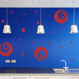 Supersized Circles Red Wall Decal Wall Decal