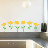Happy Flowers Yellow Wall Decal Wall Decal