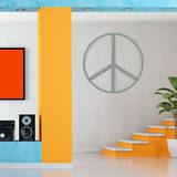 Line Peace Sign Grey Wall Decal Wall Decal