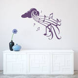 Notes in Flight Violet Wall Decal Wall Decal