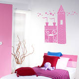 Princess Castle bubblegum Wall Decal Wall Decal