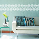 Powder Border White Wall Decal Wall Decal