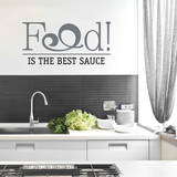 Food is the Best Sauce Black Wall Decal Decalques de parede