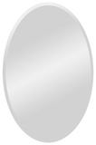 Yen All Glass Oval Mirror Wall Mirror