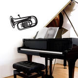 Tuba Black Wall Decal Wall Decal