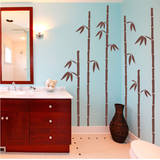 Tall Bamboo Brown Wall Decal Wall Decal