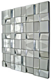 Quartz All Glass Dimensional Panel Mirror Wall Mirror by  Jonathan Wilner/Paul De Bellefeuille