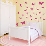 Butterfly Moments Pink Wall Decal Wall Decal
