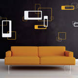 Retro Blocks White Wall Decal Wall Decal