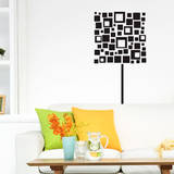 Square Lamp Black Wall Decal Decalques de parede