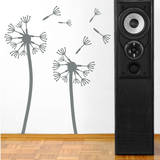 Dandelions, Medium Grey Wall Decal Wall Decal