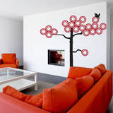 Ring Tree Red Wall Decal Wall Decal