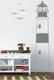 Find Your Way Home Lighthouse Grey Wall Decal Adesivo de parede