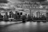 F. Scott Fitzgerald New York Quote Poster Poster