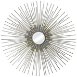 Dandelion Silver and Gold Mirror Wall Mirror by  Jonathan Wilner/Paul De Bellefeuille