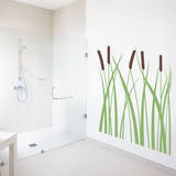 Cattails Brown Wall Decal Wall Decal